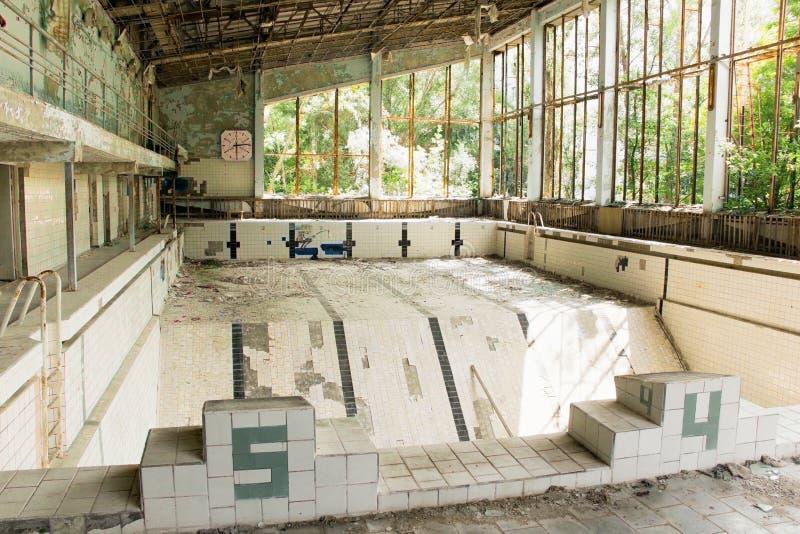 Pływacki basen w Chernobyl obrazy stock