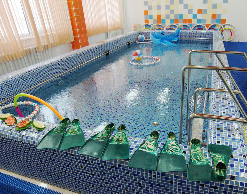 Pływacki basen w preschool fotografia royalty free