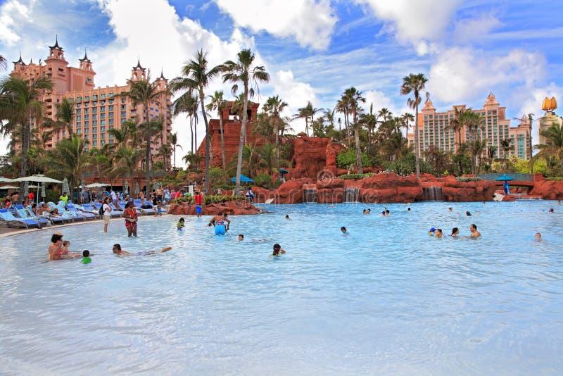 Pływacki basen w raj wyspie Bahamas obraz royalty free