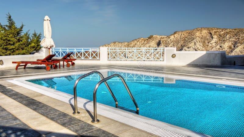Pływacki basen, zdroju kurort obrazy royalty free