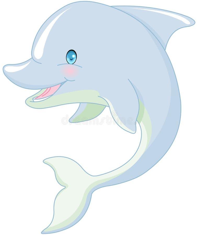 Pływacki delfin ilustracja wektor