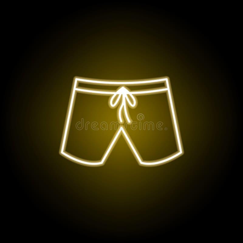 p?ywackich baga?nik?w ikona w neonowym stylu Znaki i symbole mog? u?ywa? dla sieci, logo, mobilny app, UI, UX royalty ilustracja