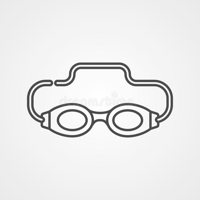 Pływackich gogle ikony znaka wektorowy symbol ilustracja wektor
