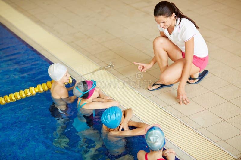 Pływackie instrukcje zdjęcia royalty free