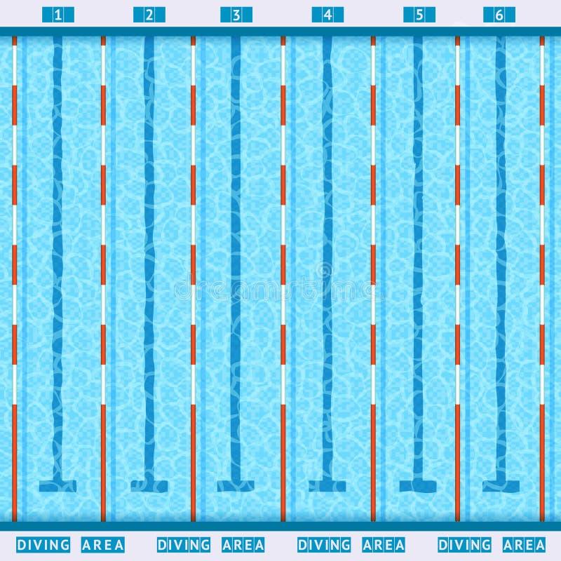 Pływackiego basenu Odgórnego widoku mieszkania piktogram royalty ilustracja