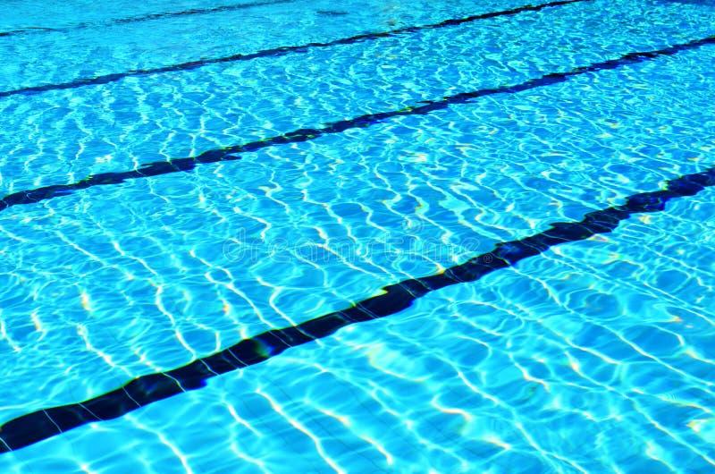 Pływackiego basenu pasy ruchu zdjęcia royalty free
