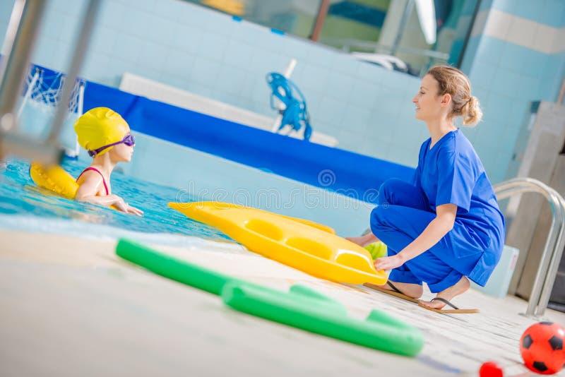 Pływackiego basenu rehabilitacja zdjęcia stock