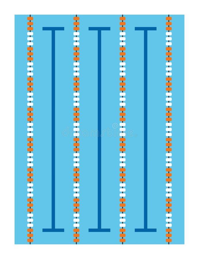 Pływackiego basenu wektoru ilustracja obraz stock