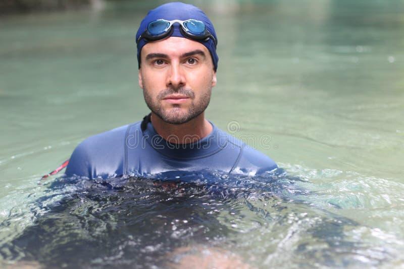 Pływaczka w wodnym zakończeniu up zdjęcie stock