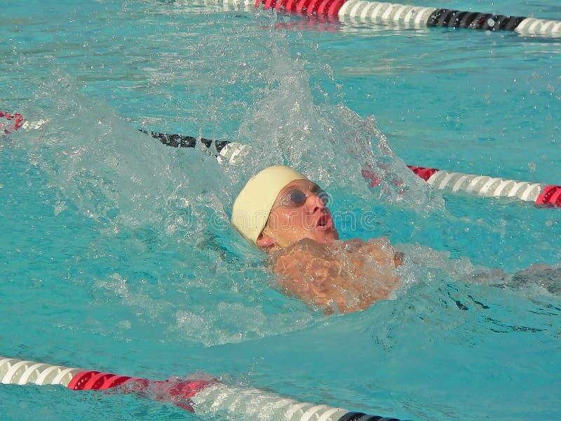 pływak konkurencyjna fotografia stock