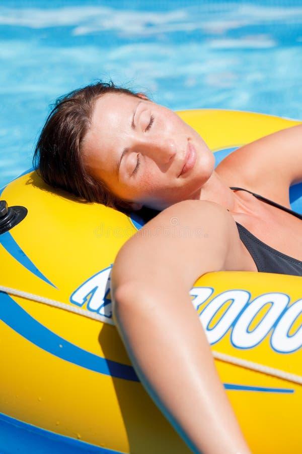 pływakowa kobieta zdjęcie royalty free