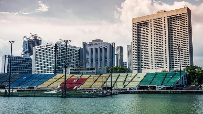 Pływakowa Marina zatoka przy Singapur zdjęcie royalty free