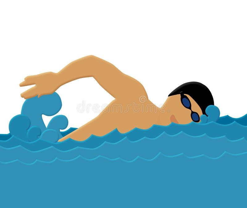 Pływanie ilustracja wektor