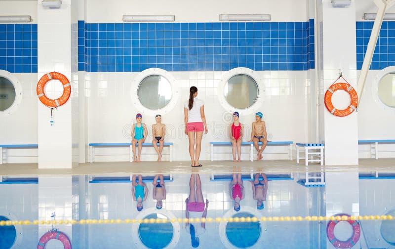 Pływanie lekcja fotografia royalty free