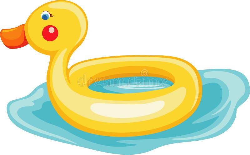 Pływanie pierścionku kaczka ilustracji