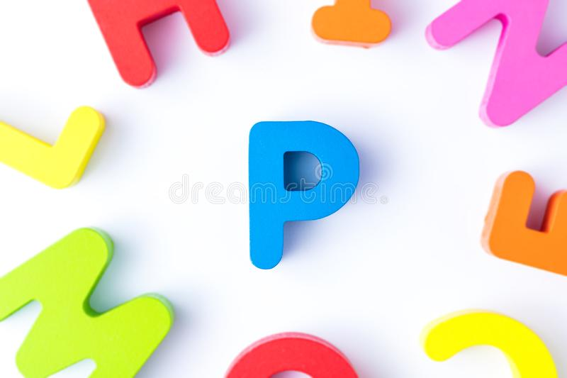 P信件用英语 库存照片