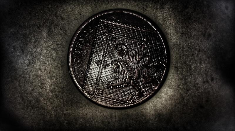 2p硬币 免版税库存图片