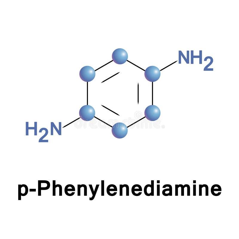 P苯二胺PPD是一个有机化合物 库存例证