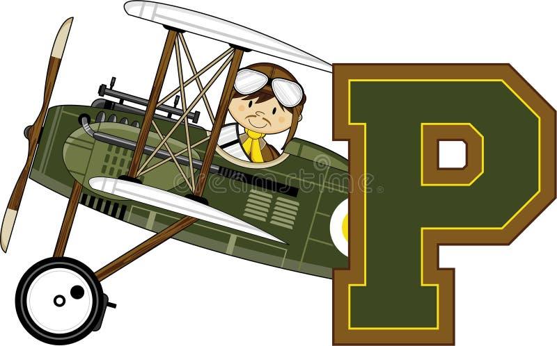 P é para o piloto ilustração do vetor