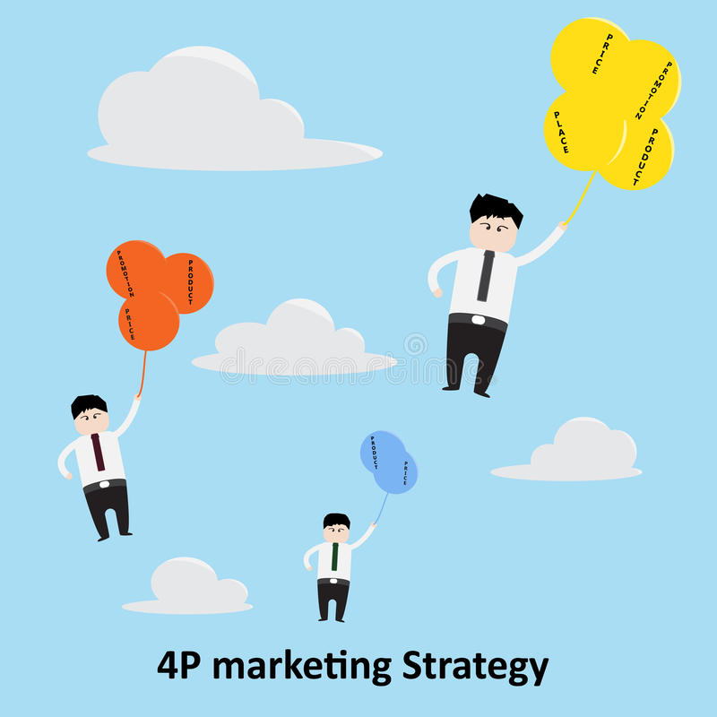 4P έννοια εμπορικής στρατηγικής στοκ εικόνες
