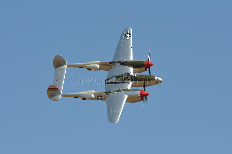 Download P-38 Flying Against Blue Sky Editorial Photo - Image: 16118266