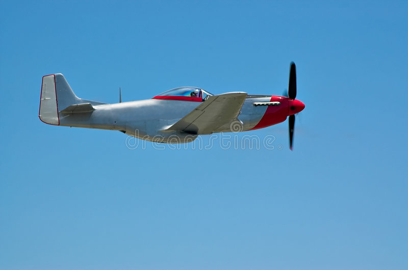 P-51 On Blue stock photo