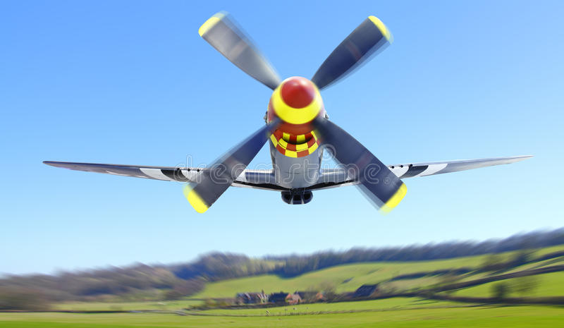 P 51 Mustang fighter plane. P 51 Mustang WWII fighter plane royalty free stock photo
