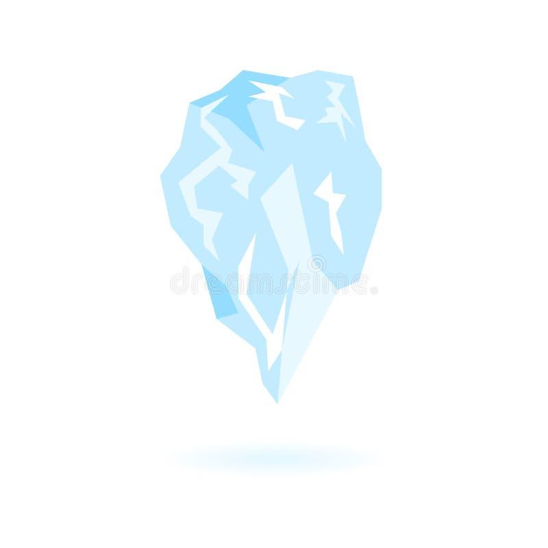 P?aska g?ry lodowa ikona Odosobniony wektor sopel ilustracji