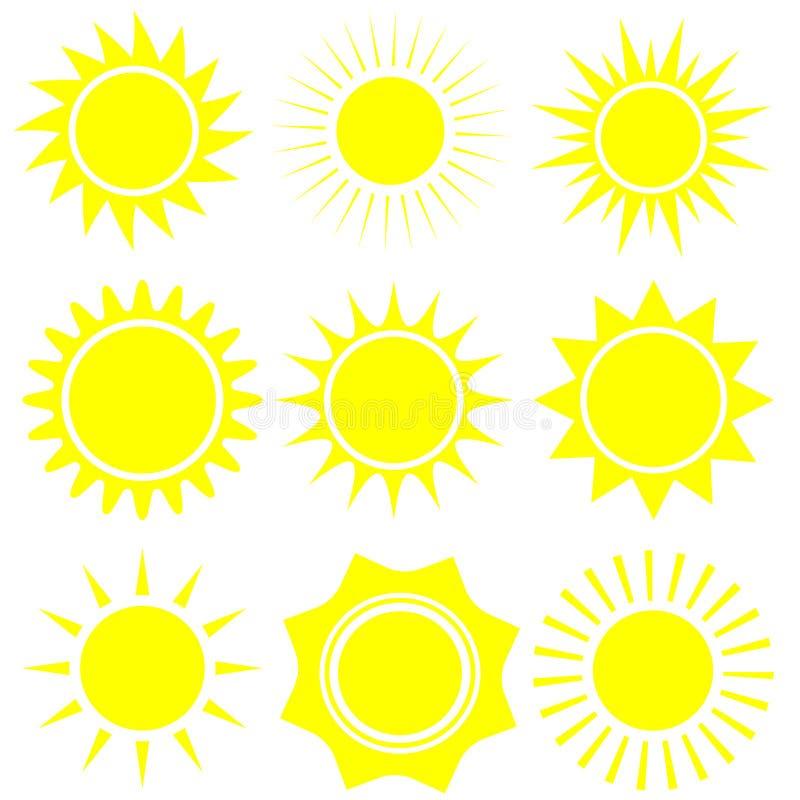 P?aska s?o?ce ikona S?o?ce piktogram Modny wektorowy lato symbol dla strona internetowa projekta, sie? guzik, wisz?ca ozdoba app ilustracji