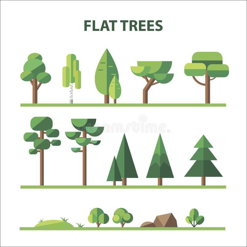 Download Płaski las ilustracji. Ilustracja złożonej z kolekcja - 53792796