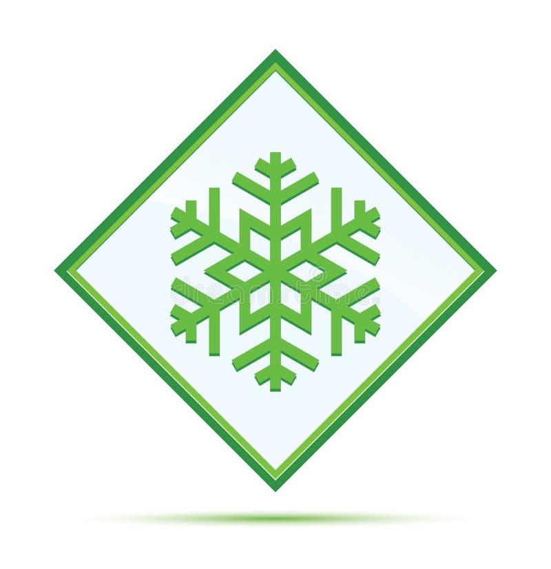 P?atek ?niegu ikony abstrakta nowo?ytnej zieleni diamentowy guzik royalty ilustracja