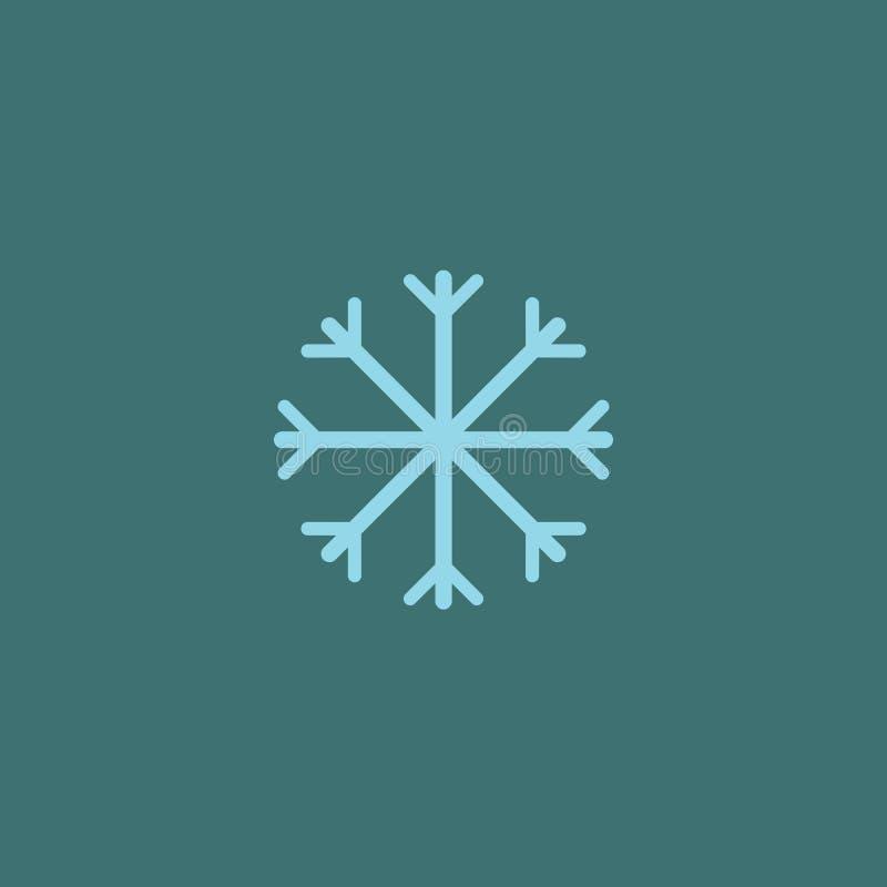 P?atka ?niegu wektoru ikona ?nie?ny piktogram Zima symbol royalty ilustracja