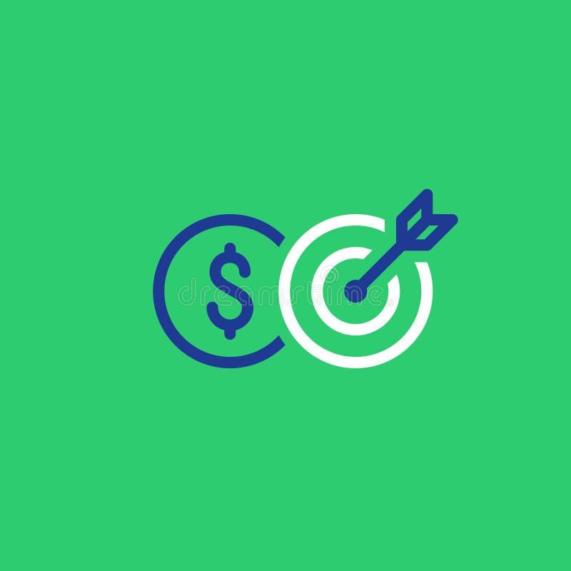 P?atnicza zaliczka, kredytowy wynik, bankowo?? i finansowanie, kreskowa ikona royalty ilustracja