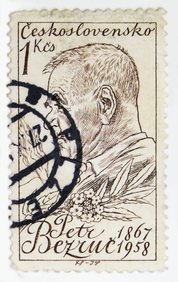 P Bezruc 1867-1958, dichters, Cultuur en Wetenschapspersoonlijkheden serie, circa 1959 stock fotografie