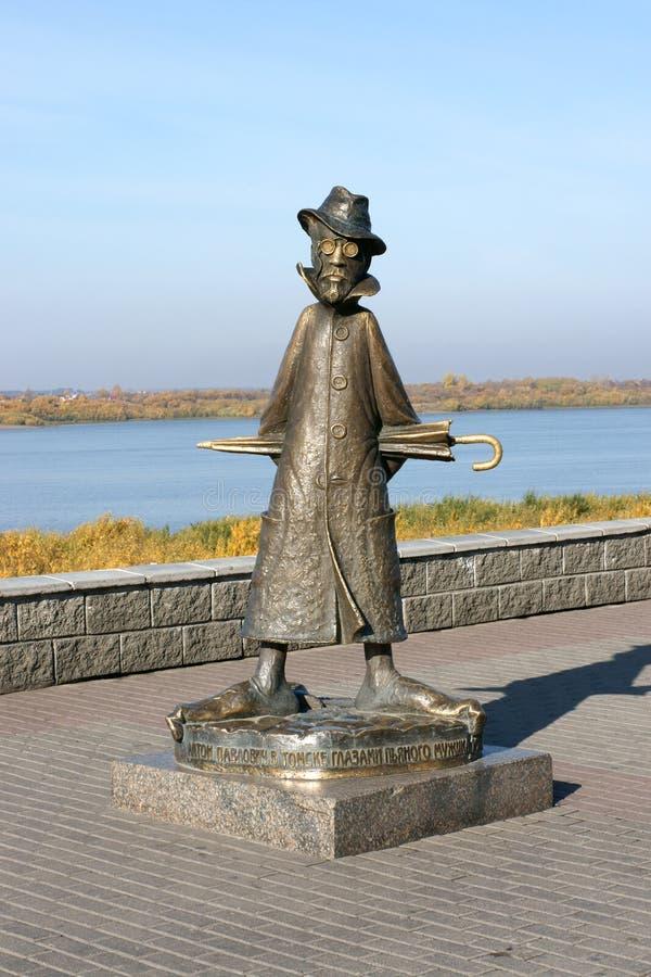 A.P.Chekhov-monument arkivfoto
