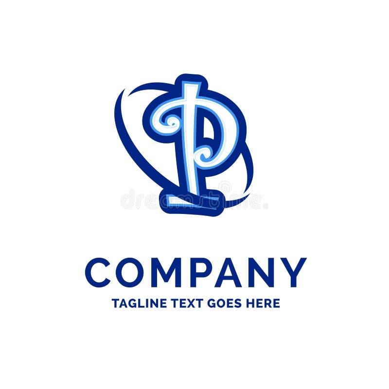 P Company Name Design Blue Logo Design royalty free illustration