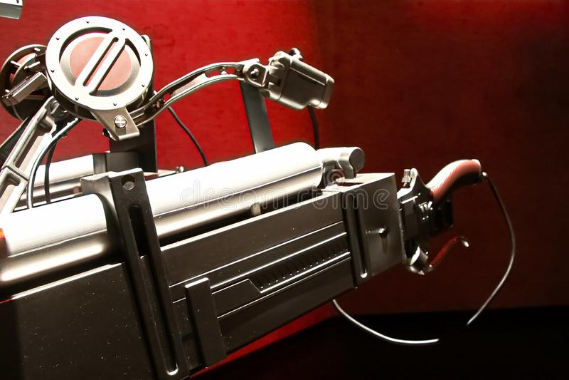 ?p?e de vitesse de manoeuvre et p?riph?rique mobile 3D d'attaque sur le titan Shingeki aucun kyojin images libres de droits