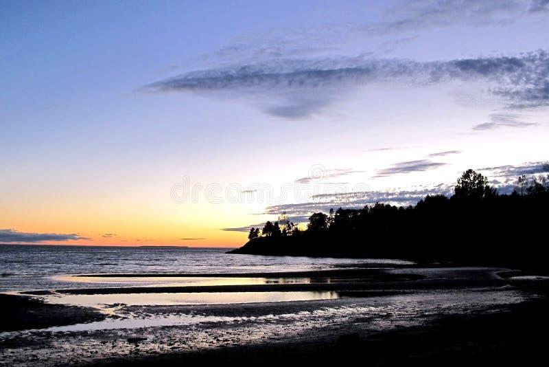 P e I Sonnenuntergang stockbild