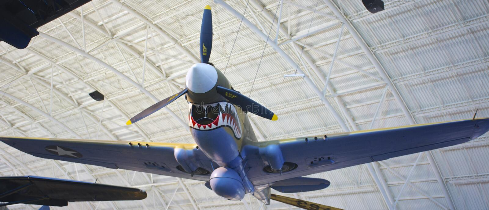P-40E Kitty Hawk foto de stock