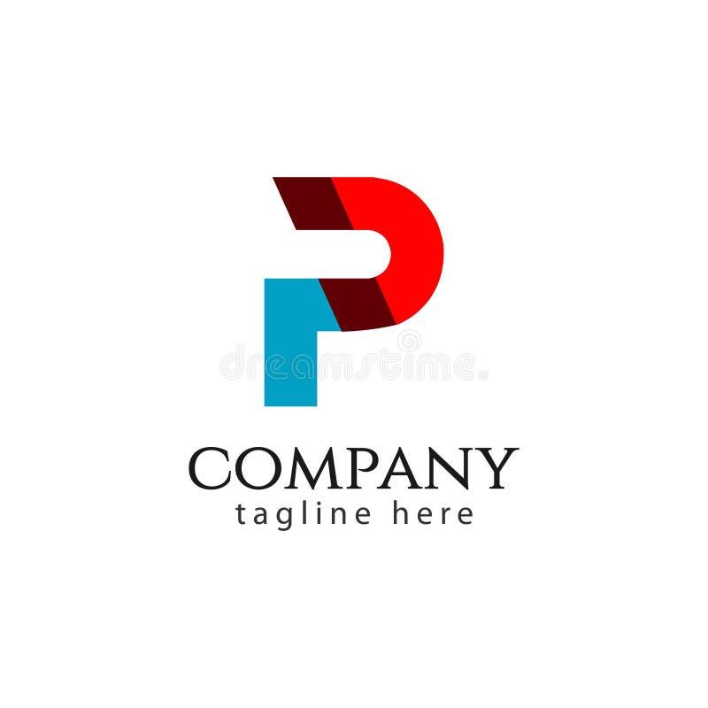 P Firma logo szablonu projekta Wektorowa ilustracja ilustracja wektor