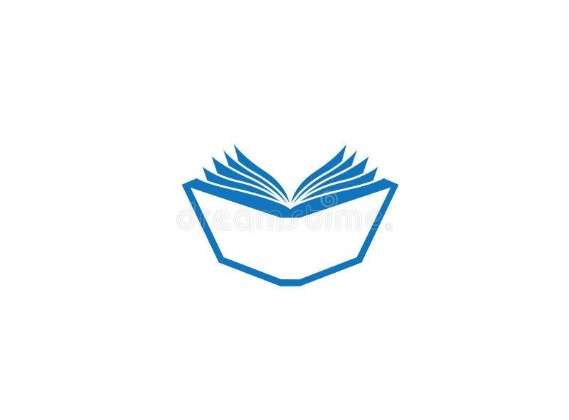 P?ginas e pap?is abertos do livro para a ilustra??o do projeto do logotipo ilustração stock