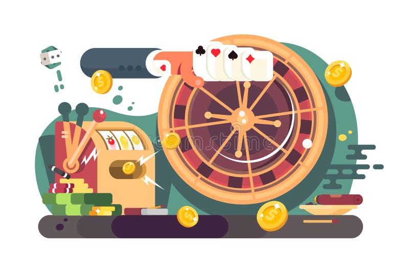 P?ker del casino ilustración del vector