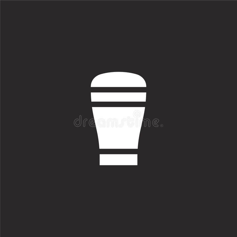 P?? kwarty piwna ikona Wypełniający pół kwarty piwna ikona dla strona internetowa projekta i wiszącej ozdoby, app rozwój pół kwar ilustracji