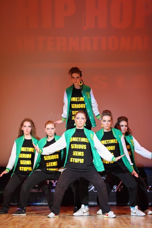 P.L.U.R. ballo della squadra alla tazza del International di Hip Hop fotografie stock
