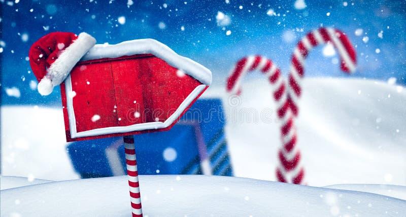 Pôle Nord de connexion de Santa illustration stock