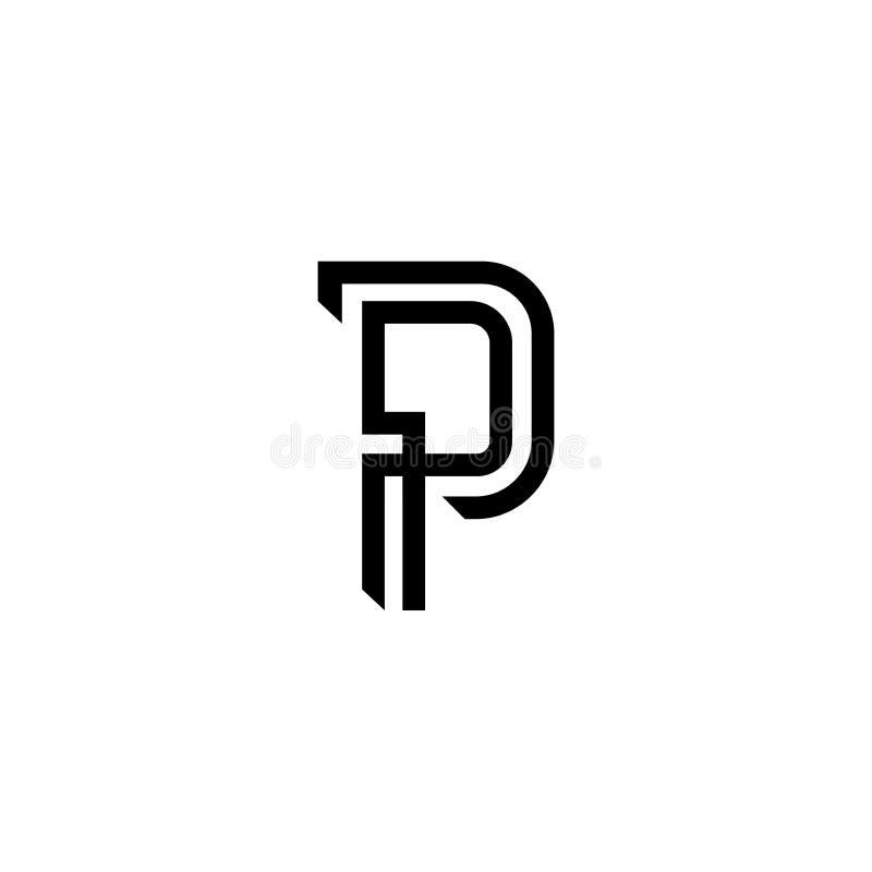 P lettermark stock afbeelding