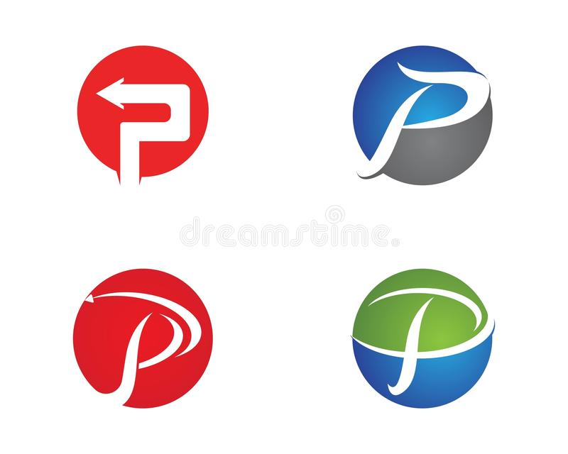 P Letters Business Logo And Symbols Template Stock Vector