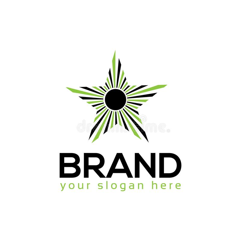 Star logo template, flat design. Vector illustration on white background. vector illustration