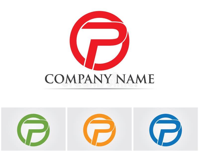 P logo design vector Business corporate lette vector illustration