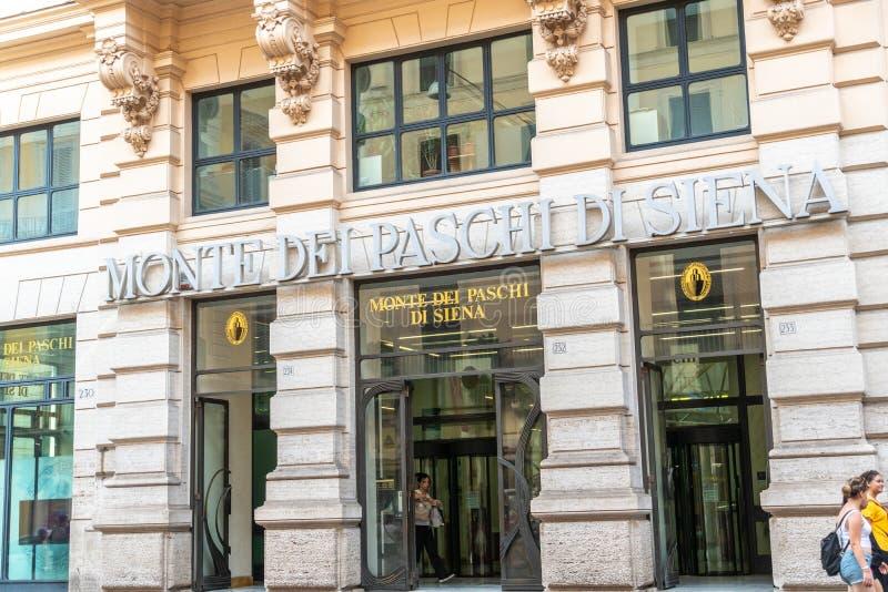 P.M. italianas de Paschi di Siena del dei de Monte del banco imagen de archivo